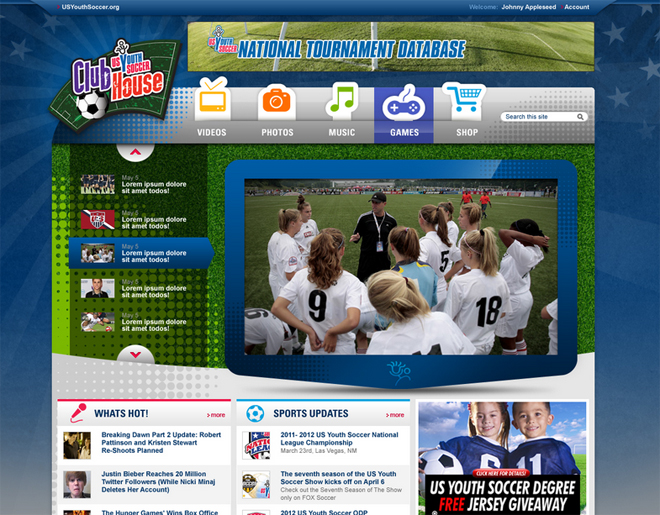 Clubhouse home page screen shot