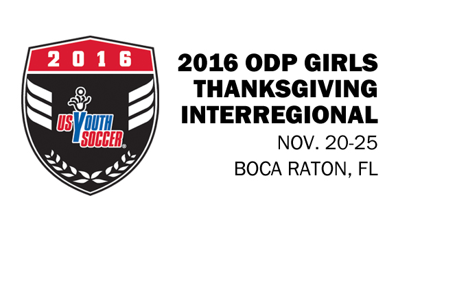 2016 ODP Girls Thanksgiving Interregional