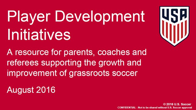 Player Development Initives
