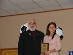 Steve Votolato (SRI President) & Katelyn Vieira - Girls Premier Player of the Year Award  |  Pat Stoddard - Assistant Administrator