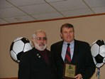 Steve Votolato (SRI President) & Rex Morris - Adult Male Referee of the Year Award  |  Pat Stoddard - Assistant Administrator