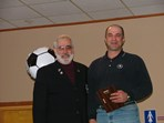 Steve Votolato (SRI President) & Evo Deus - Adult Volunteer of the Year Award  |  Pat Stoddard - Assistant Administrator