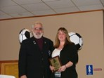 Steve Votolato (SRI President) & Nicole Smith - Adult Special Recognition Award  |  Pat Stoddard - Assistant Administrator