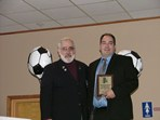 Steve Votolato (SRI President) & Paul Penco - Boys Team Manager of the Year  |  Pat Stoddard - Assistant Administrator