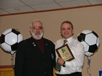"Steve Votolato (SRI President) & Jose ""Zeca"" Coelho - Boys Team Coach of the Year  