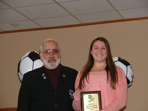 Steve Votolato (SRI President) & Samantha Colbert - Youth Special Recognition of the Year Award