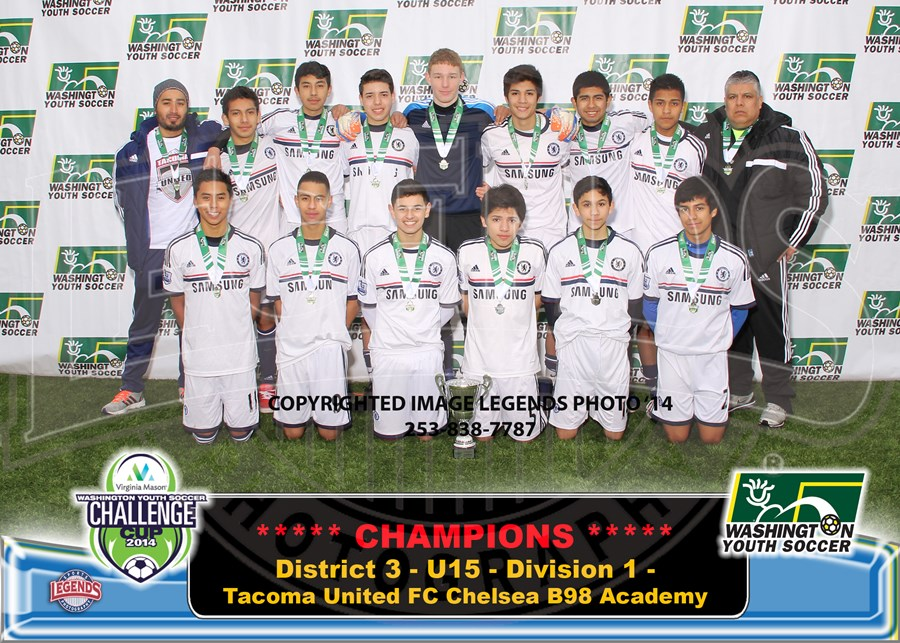 U15C - Division 1 - Tacoma United FC Chelsea B98 Academy-Brdr 5x