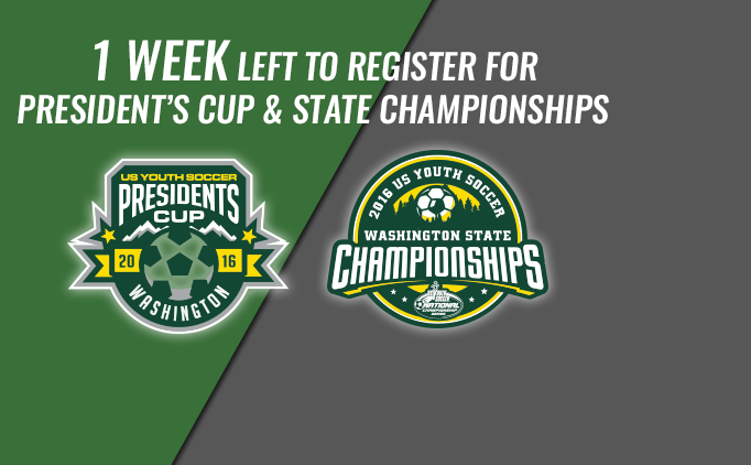 One Week Left to Register for State Cups