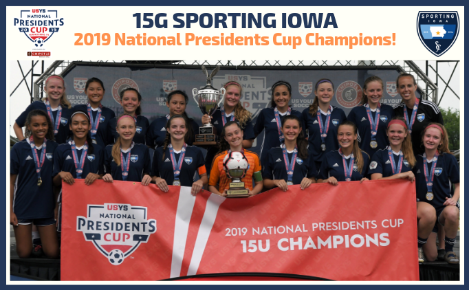 15G Sporting Iowa Wins National P. Cup...