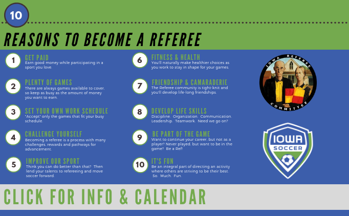 Referee Courses starting in January