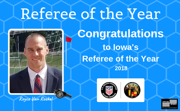 Iowa's 2018 Referee of the Year