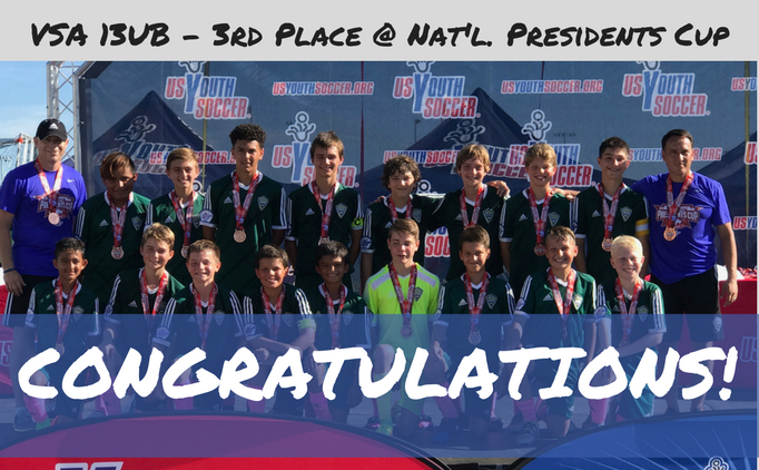 VSA finishes 3rd at National Presidents Cup