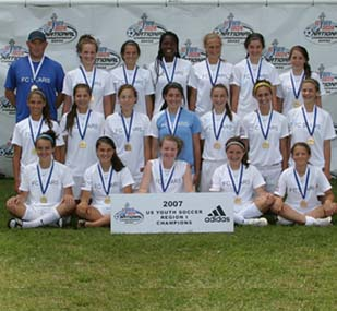 Under-14 Girls FC Stars of Massachusetts