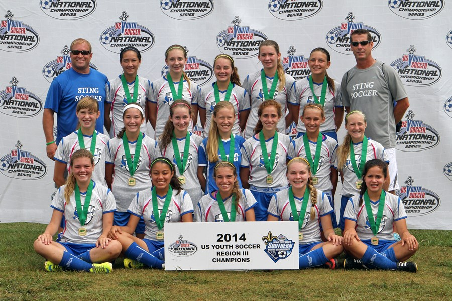 U14 Girls - Champions - Sting 00 Flanagan (N-TX)