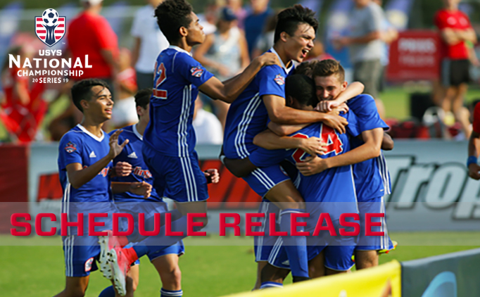 Schedule announced for 2019 US Youth Soccer...