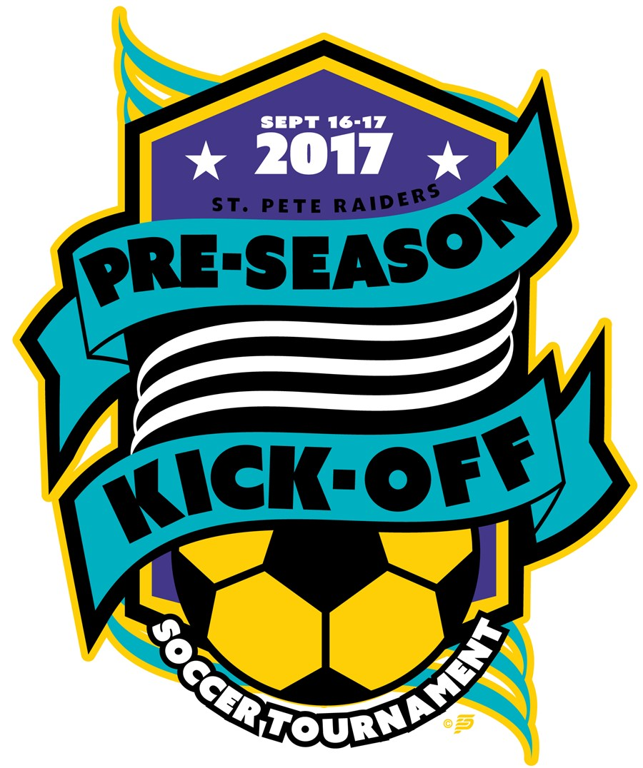 St. Pete Raiders Pre-Season Kick-Off Logo
