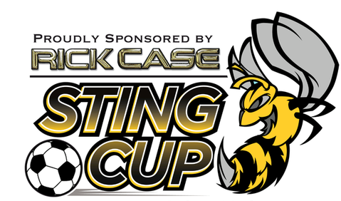 Stingcup logo with Rick Case