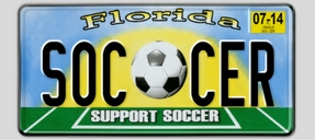 Soccer License Plate