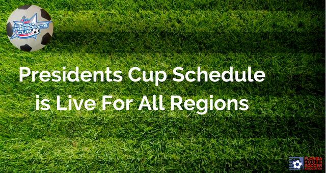 Florida Presidents Cup Schedule