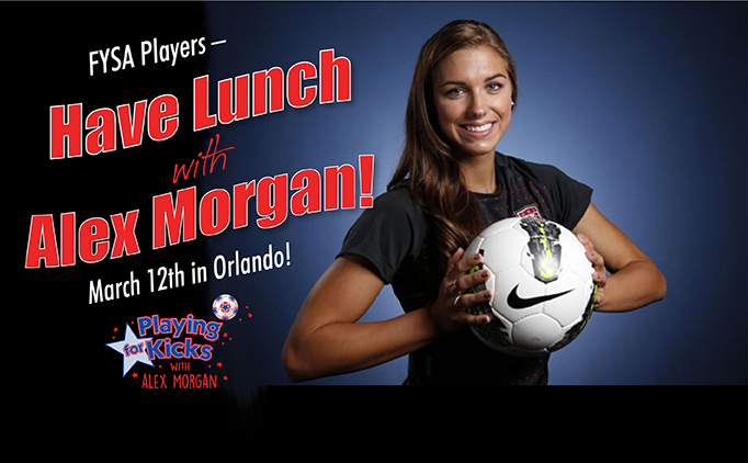 Have Lunch with Alex Morgan!