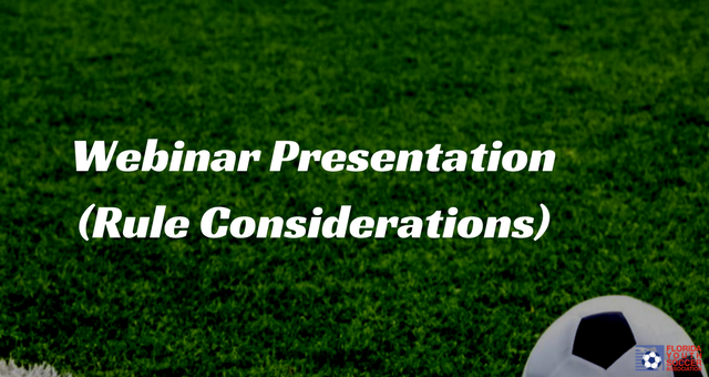Webinar Presentation (Rule Considerations)