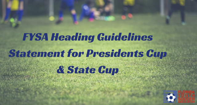 Heading Guidelines for Presidents Cup/ State Cup