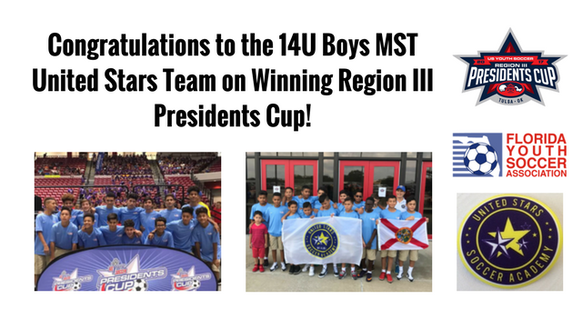 Region III Winners - 14UB MST United Stars