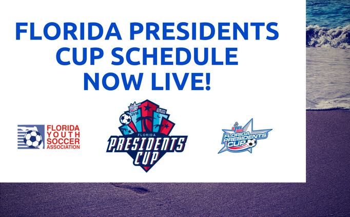 2018 Florida Presidents Cup Schedule