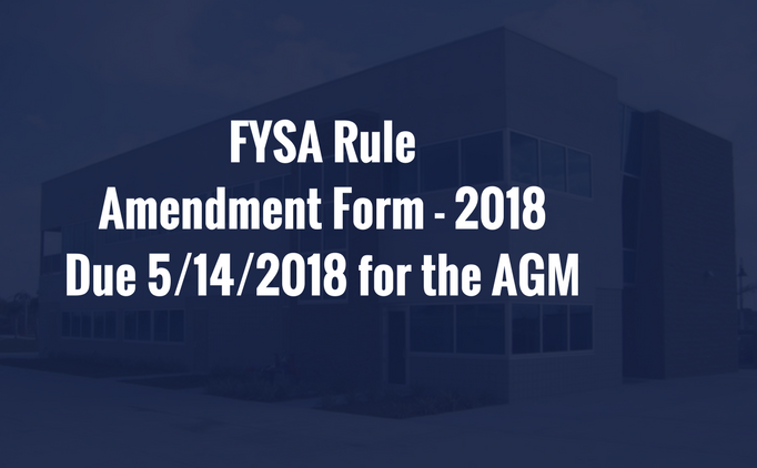 Rule Amendment Form 2018