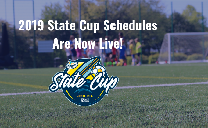 2019 State Cup - Schedule