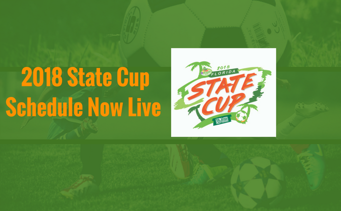 2018 State Cup Schedule
