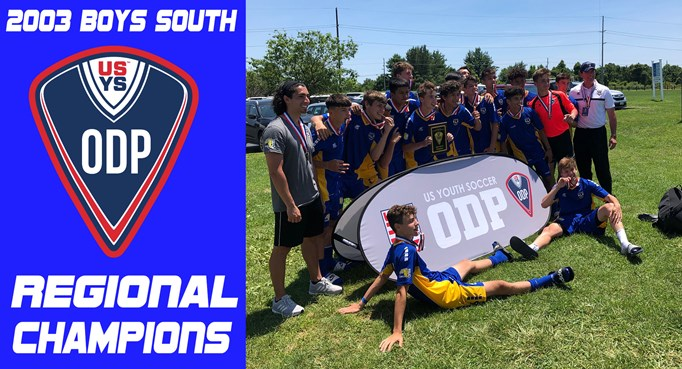2003 Boys South Win Regionals!