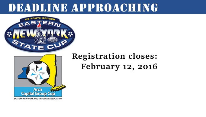 State Cup Deadline Approaching!