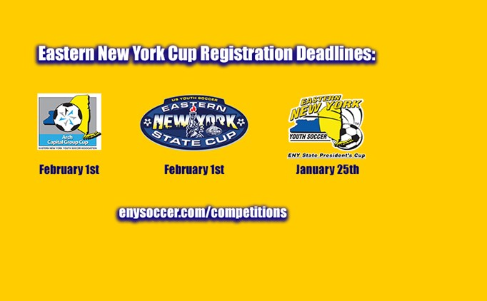 ENY State Cup Deadlines Approaching