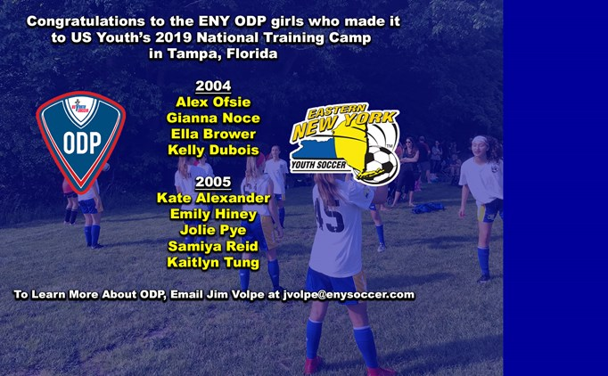 ENY ODP Girl's Selected for National Training