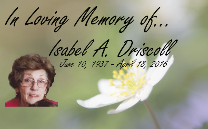 In Loving Memory of Isabel A. Driscoll