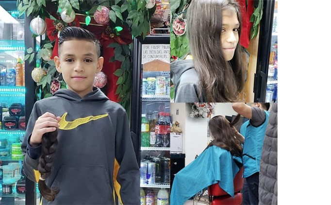 Jordan Fuentes Donates His Hair to Help Kids...