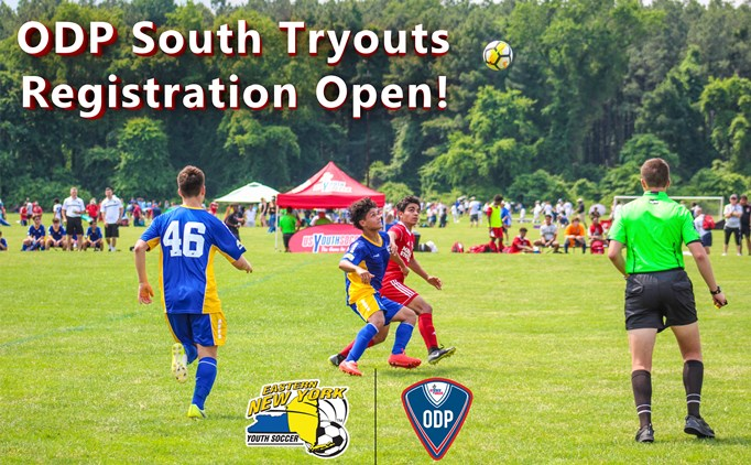 ODP South Tryouts Registration Open