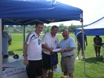 Boys U14 Razors FC Somers SC $2000 check presented to Coach Gojcevic