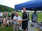Boys U15 Elite Dix Hills SC $2000 check presented to Coach Casciato
