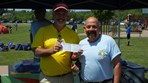 Girls U12SS Ocicats, Alleycats SC $2000 check presented to Coach Dawson