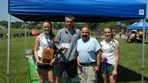 Girls U14 Freedom 98 Brentwood SC $2000 check presented to Coach DeBiase and Captains