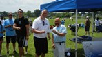 Girls U16 United Farmingdale SC $2000 check presented to Coach Mulcahy
