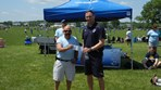 Girls U17 Lynx Alleycats SC $2000 check presented to Coach Van Leuven