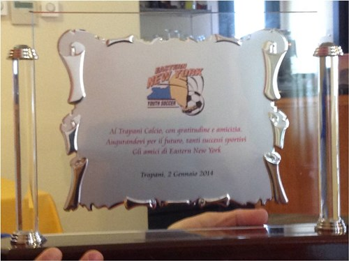 Gift we gave to Trapani soccer club