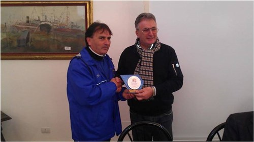 Jose Luis and Deputy Mayor of Mazzaro Di Vallo - Palermo Italy Jan 2014