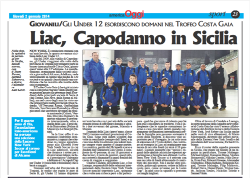 Write up in Oggi Italalian newspaper
