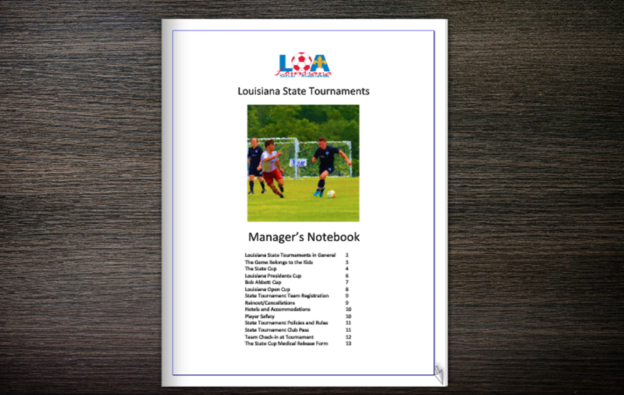 Tournament Managers Notebbok