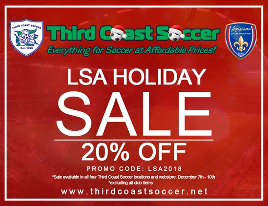 Third Coast Soccer Announces LSA Christmas Sale!