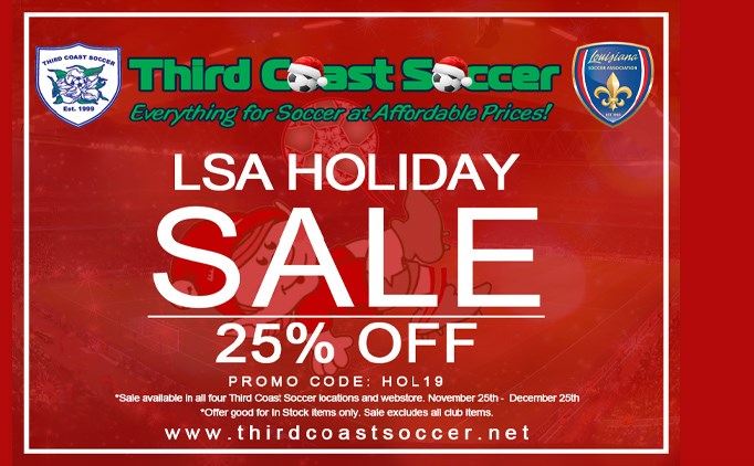 Third Coast Soccer LSA Holiday Sale